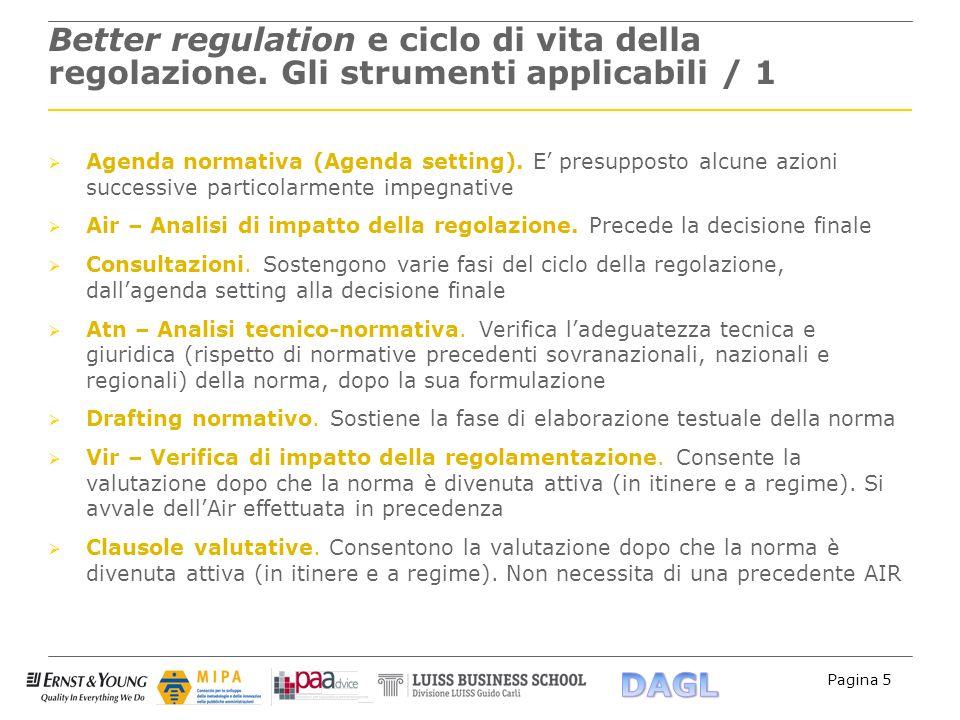 Better regulation e ciclo di vita della regolazione