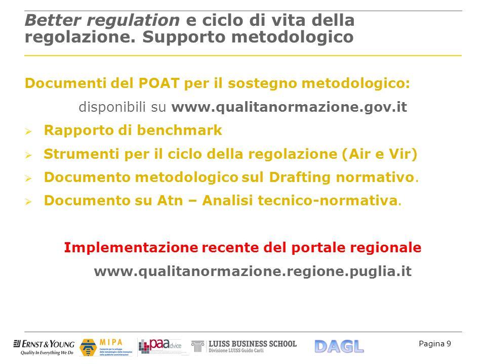 Implementazione recente del portale regionale