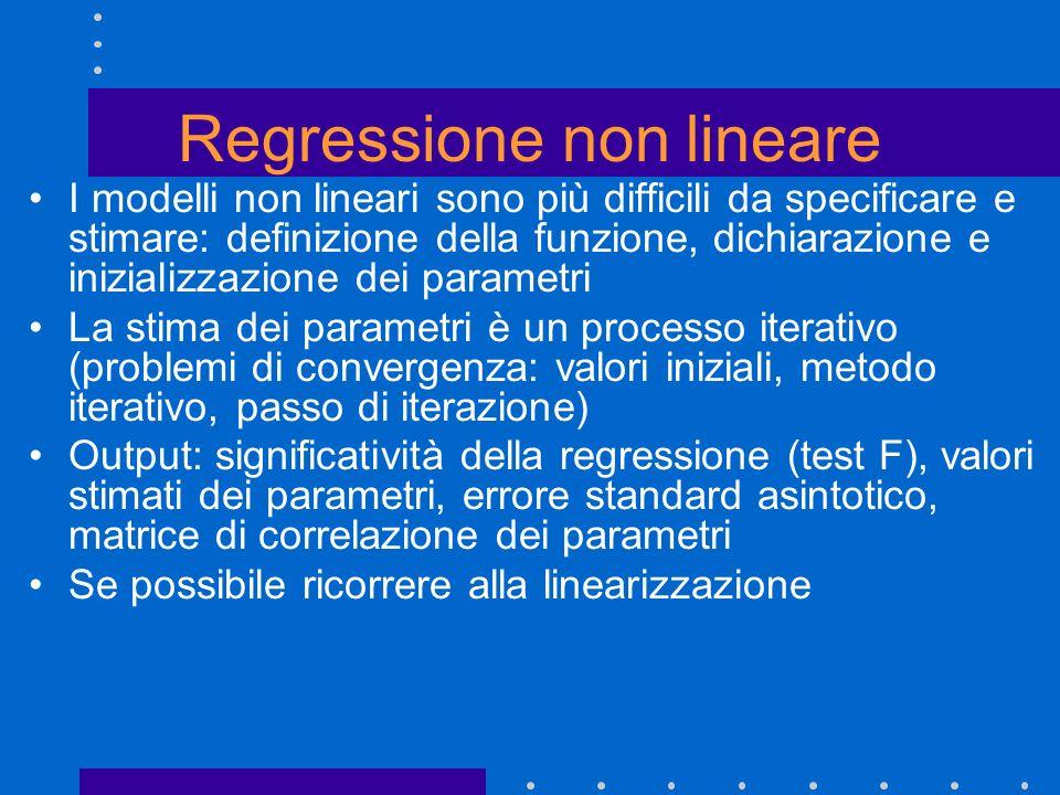 Regressione non lineare