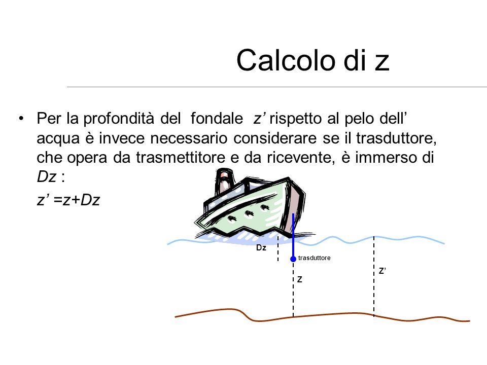 Calcolo di z