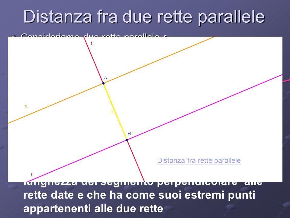 Distanza fra due rette parallele
