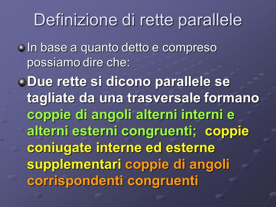 Definizione di rette parallele