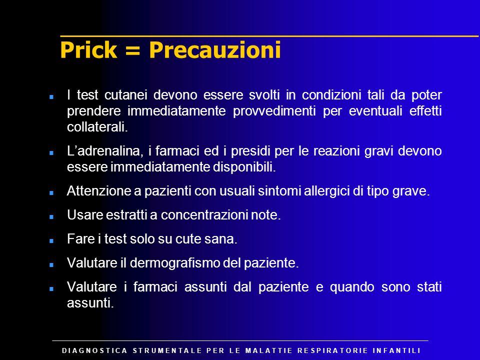 Prick = Precauzioni