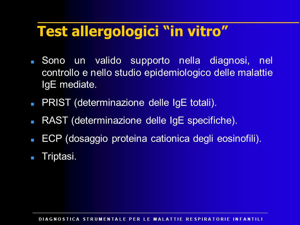 Test allergologici in vitro