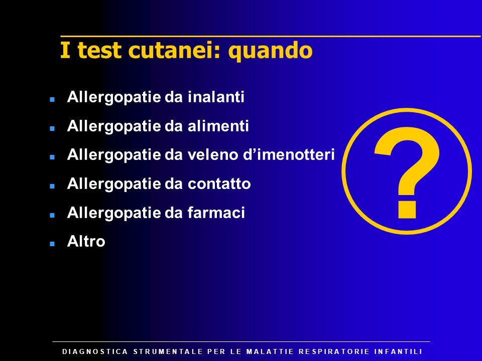 I test cutanei: quando Allergopatie da inalanti