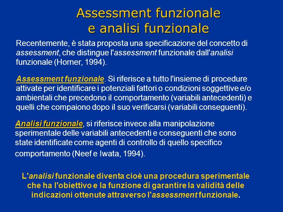 Assessment funzionale e analisi funzionale