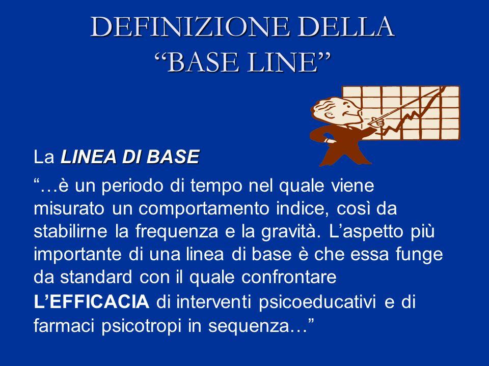 DEFINIZIONE DELLA BASE LINE