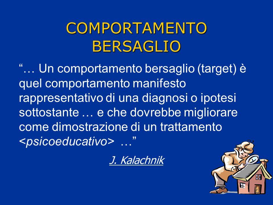 COMPORTAMENTO BERSAGLIO