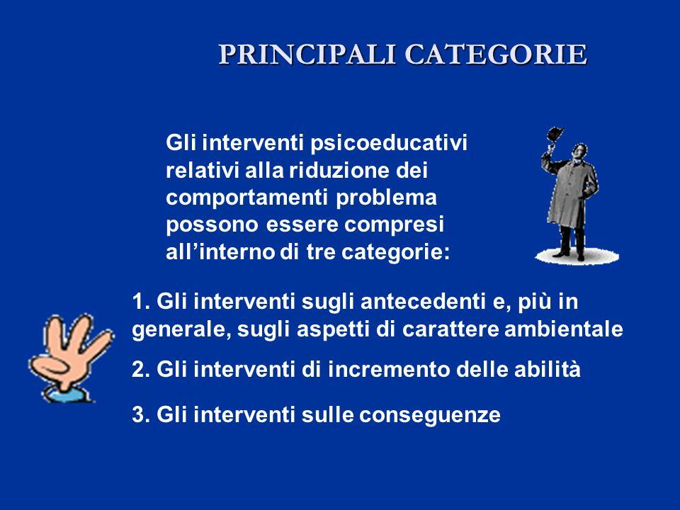 PRINCIPALI CATEGORIE