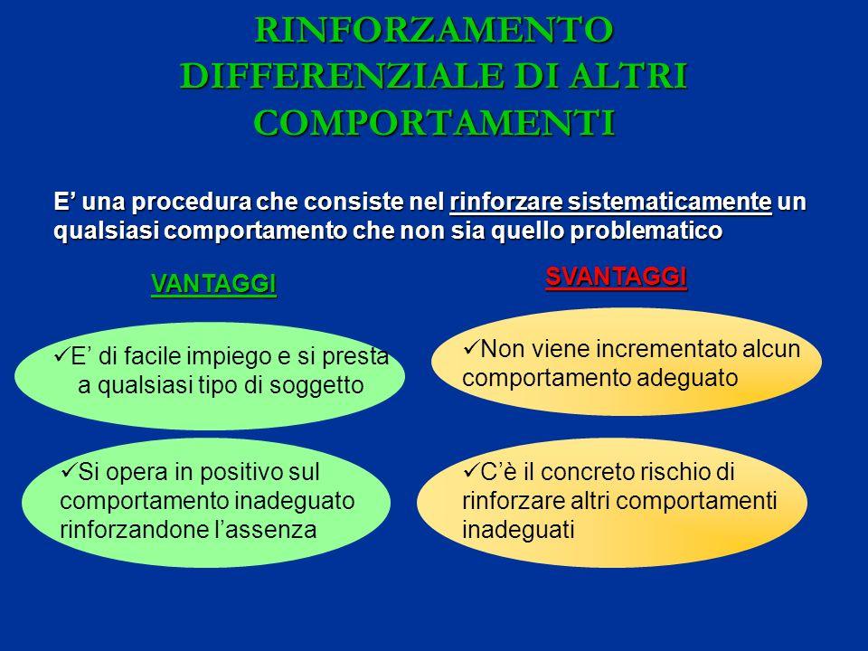 RINFORZAMENTO DIFFERENZIALE DI ALTRI COMPORTAMENTI