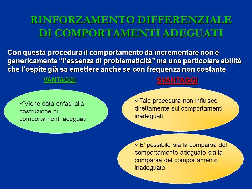 RINFORZAMENTO DIFFERENZIALE DI COMPORTAMENTI ADEGUATI