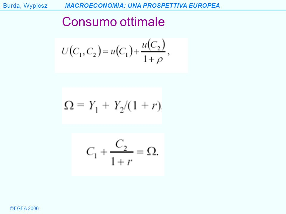 Consumo ottimale