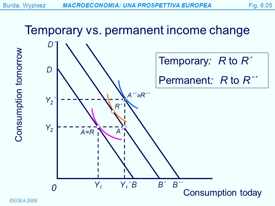 Temporary vs. permanent income change