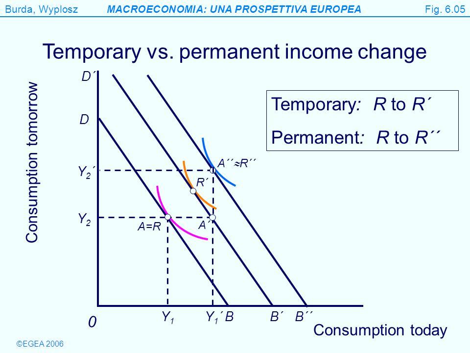 Temporary vs. permanent income change