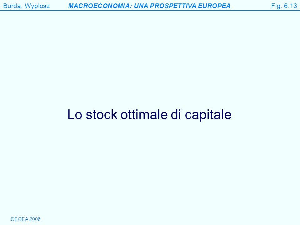 Lo stock ottimale di capitale