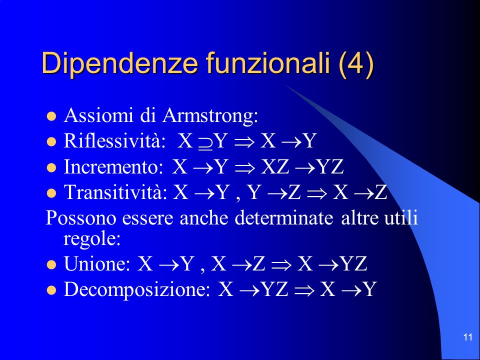 Dipendenze funzionali (4)