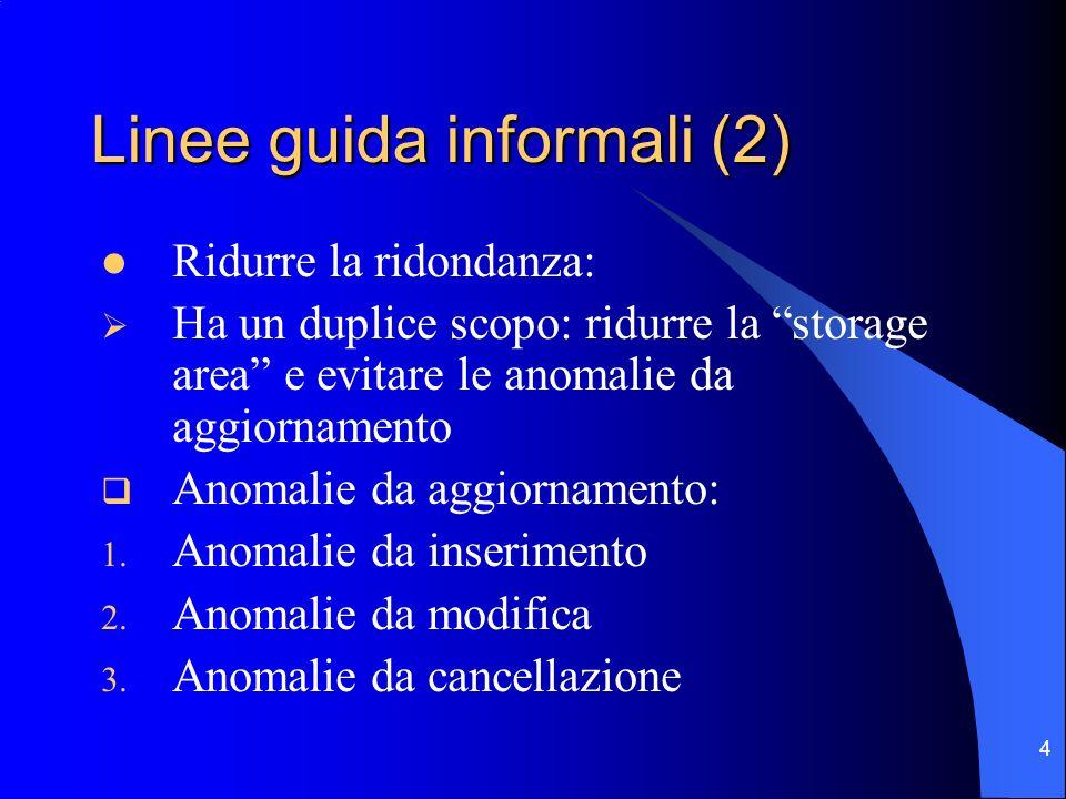 Linee guida informali (2)