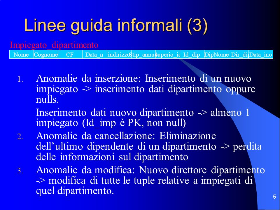Linee guida informali (3)