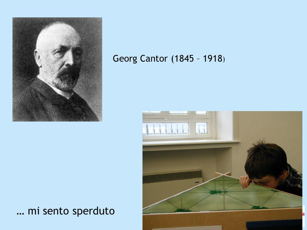Georg Cantor (1845 – 1918) … mi sento sperduto