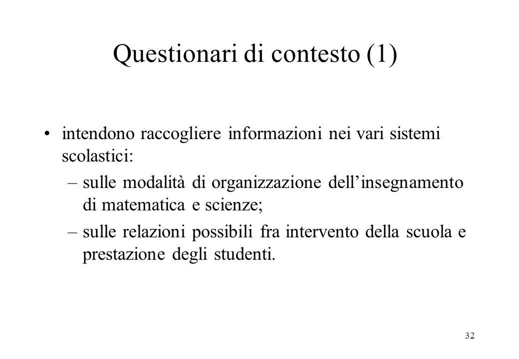 Questionari di contesto (1)