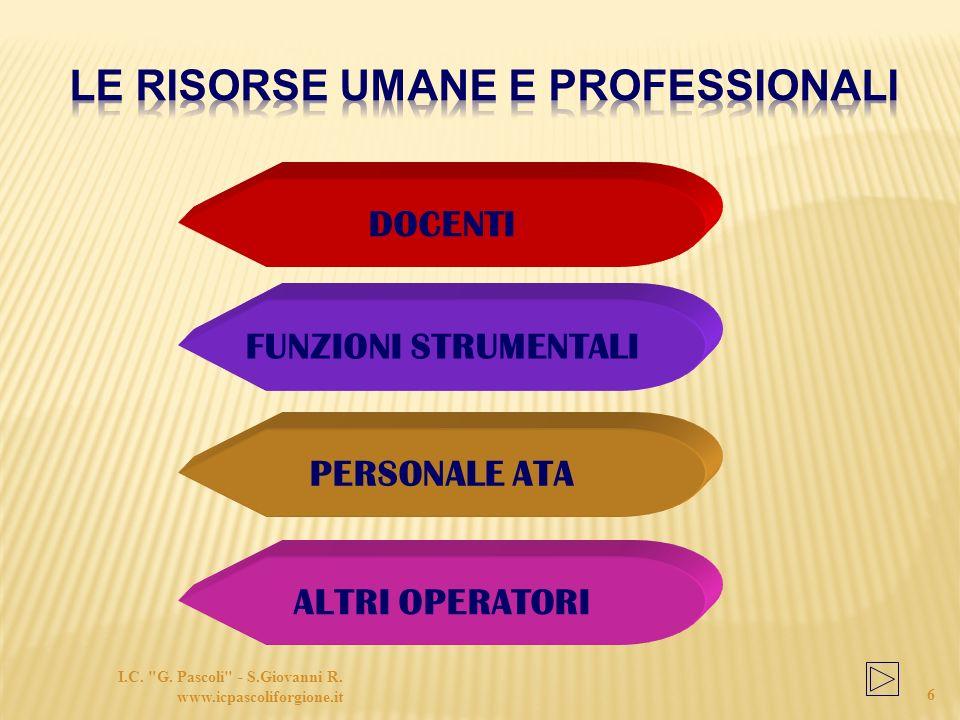 Le risorse umane e professionali