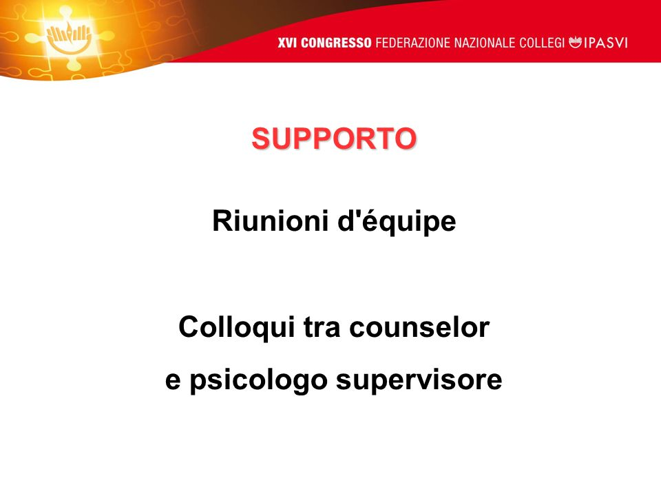 Colloqui tra counselor e psicologo supervisore