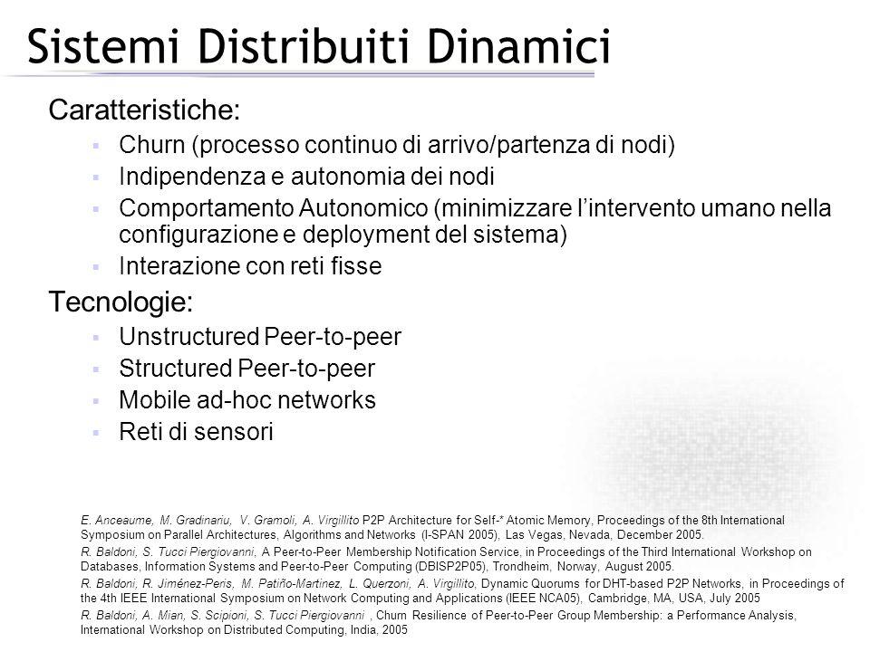 Sistemi Distribuiti Dinamici