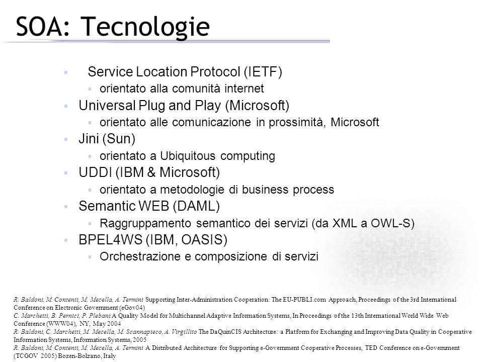 SOA: Tecnologie Service Location Protocol (IETF)