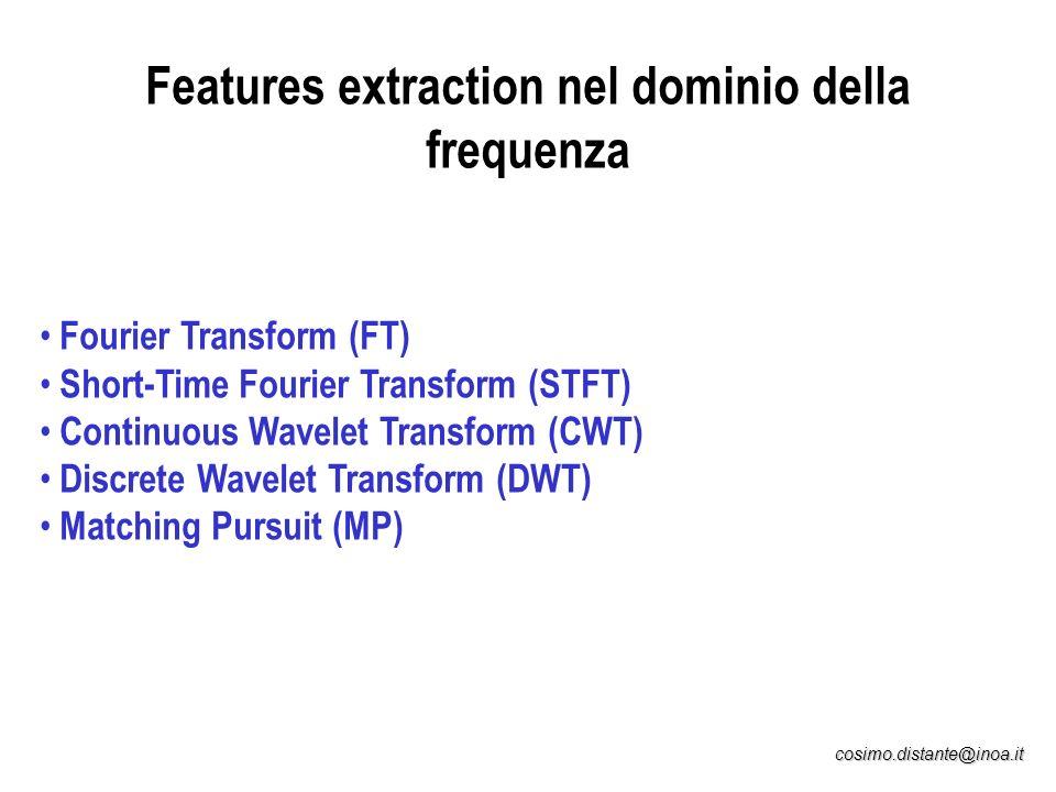 Features extraction nel dominio della frequenza