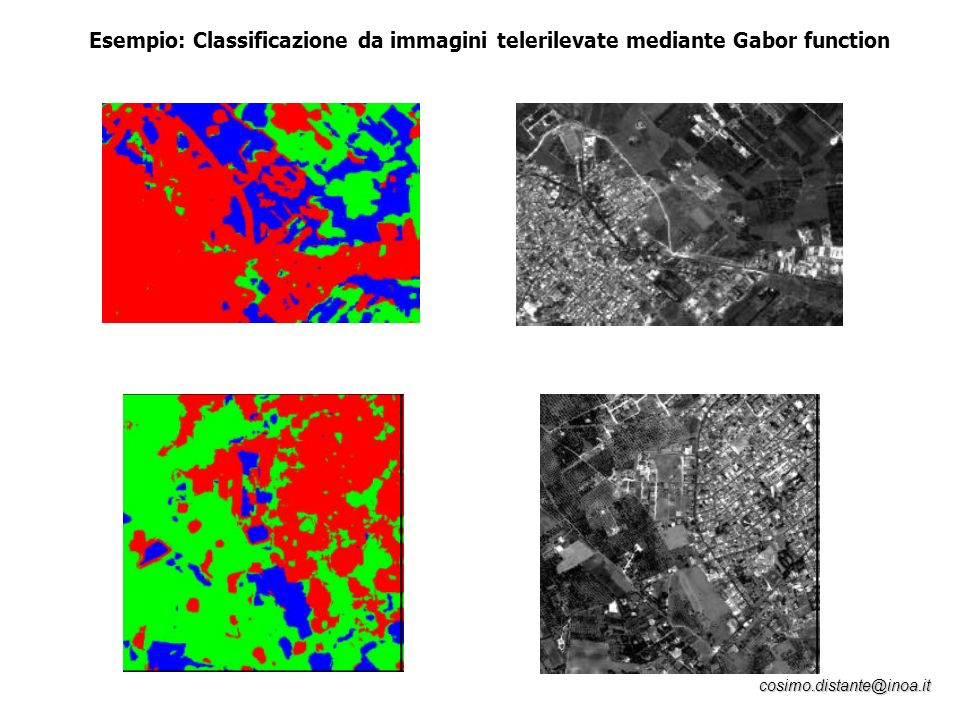 Esempio: Classificazione da immagini telerilevate mediante Gabor function
