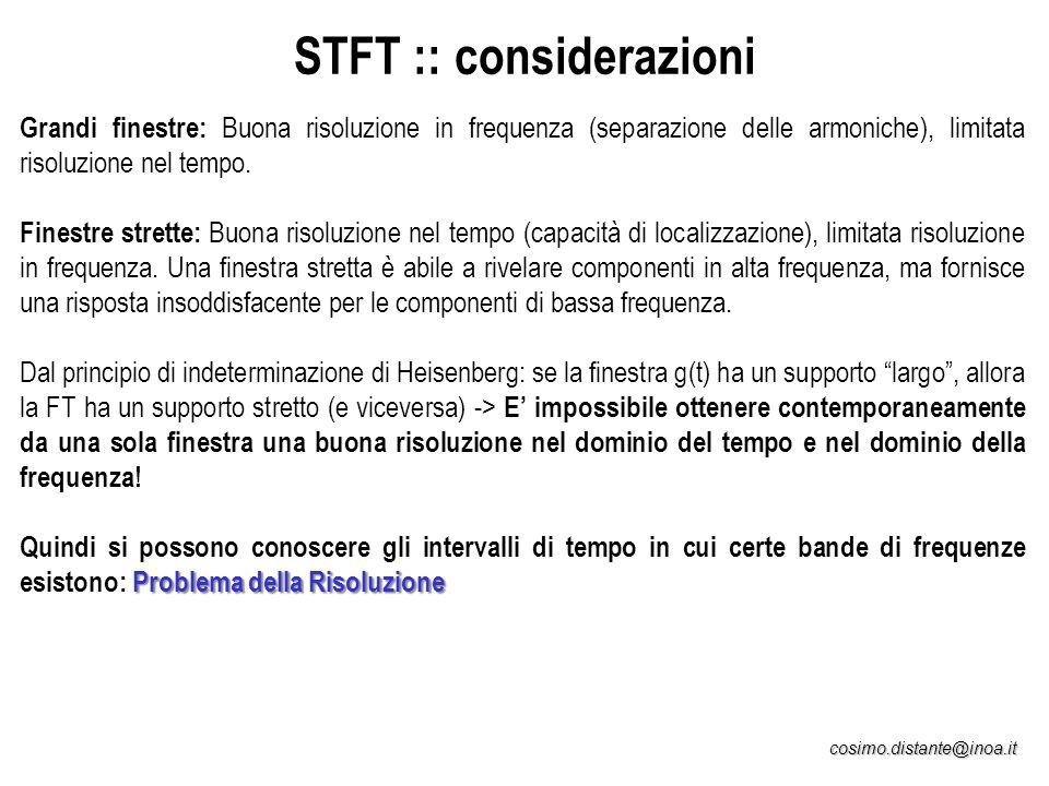 STFT :: considerazioni