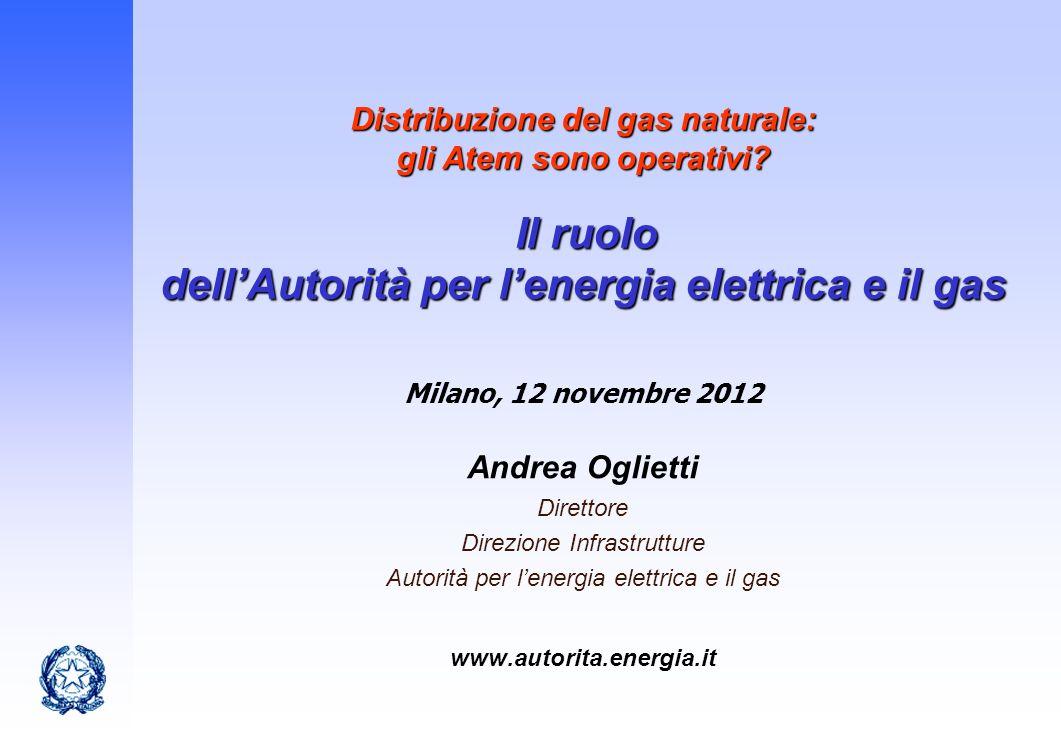 Distribuzione del gas naturale: gli Atem sono operativi
