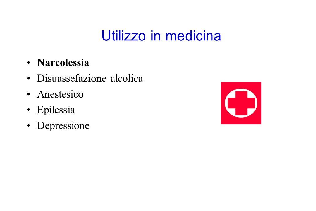 Utilizzo in medicina Narcolessia Disuassefazione alcolica Anestesico