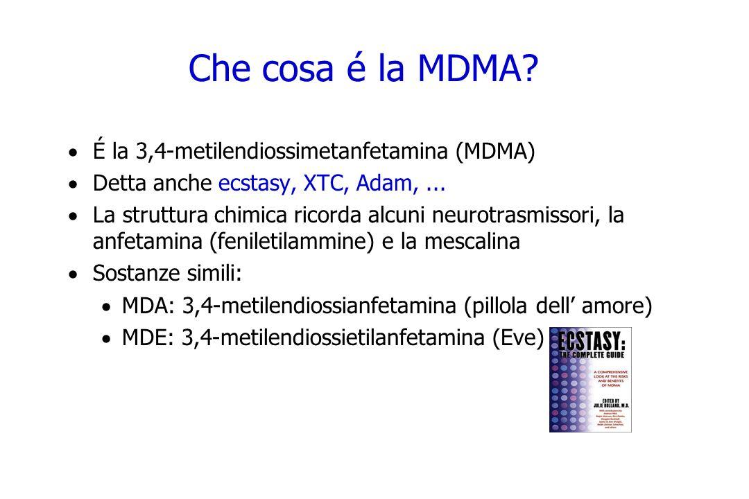 Che cosa é la MDMA É la 3,4-metilendiossimetanfetamina (MDMA)