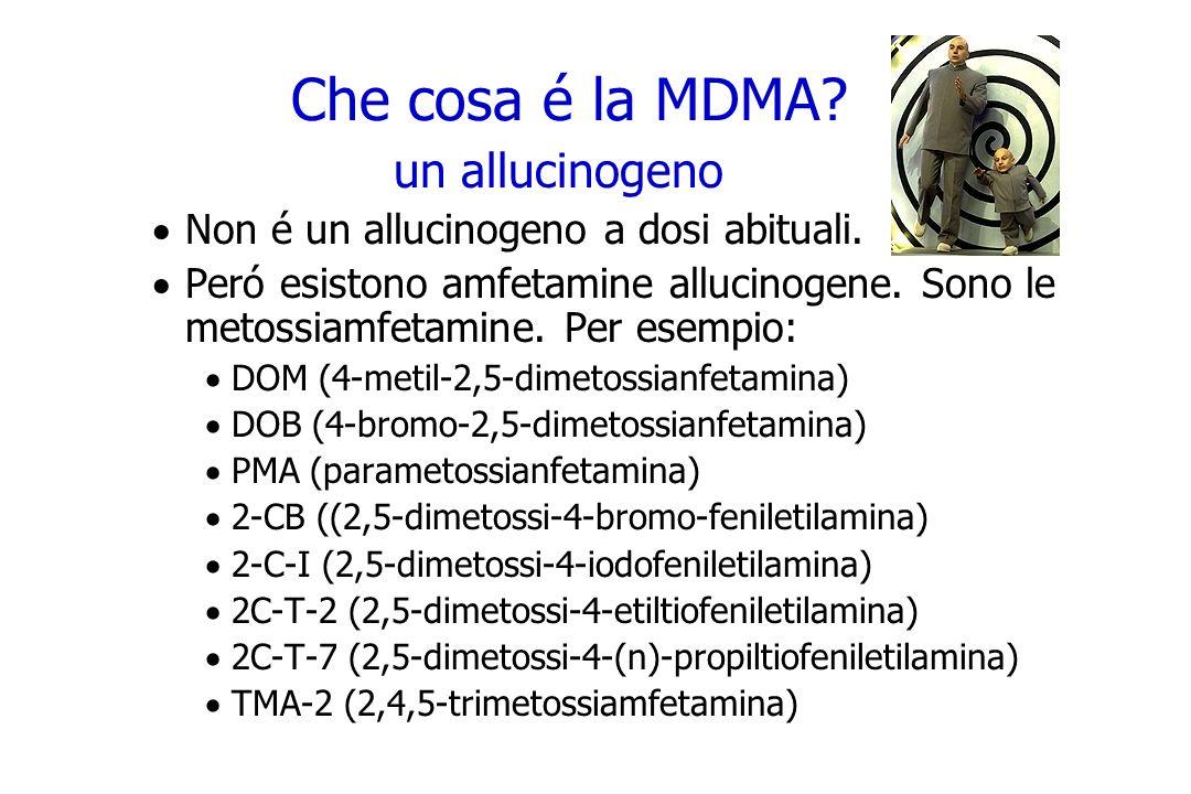 Che cosa é la MDMA un allucinogeno