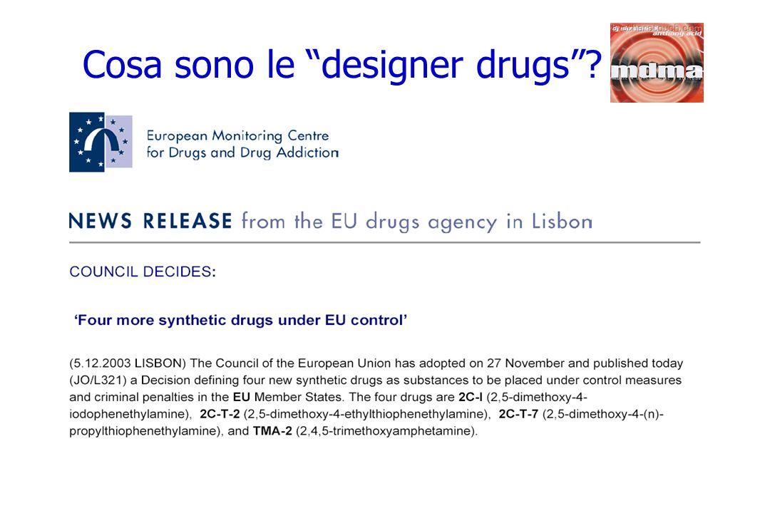 Cosa sono le designer drugs
