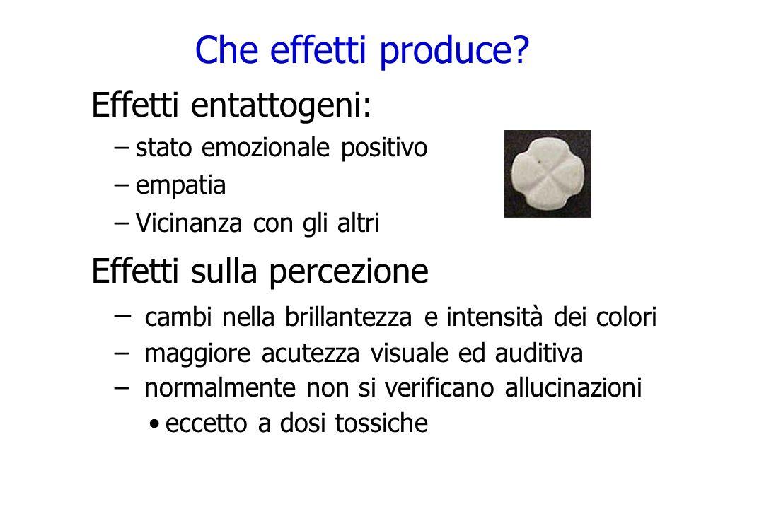 Che effetti produce Effetti entattogeni: Effetti sulla percezione