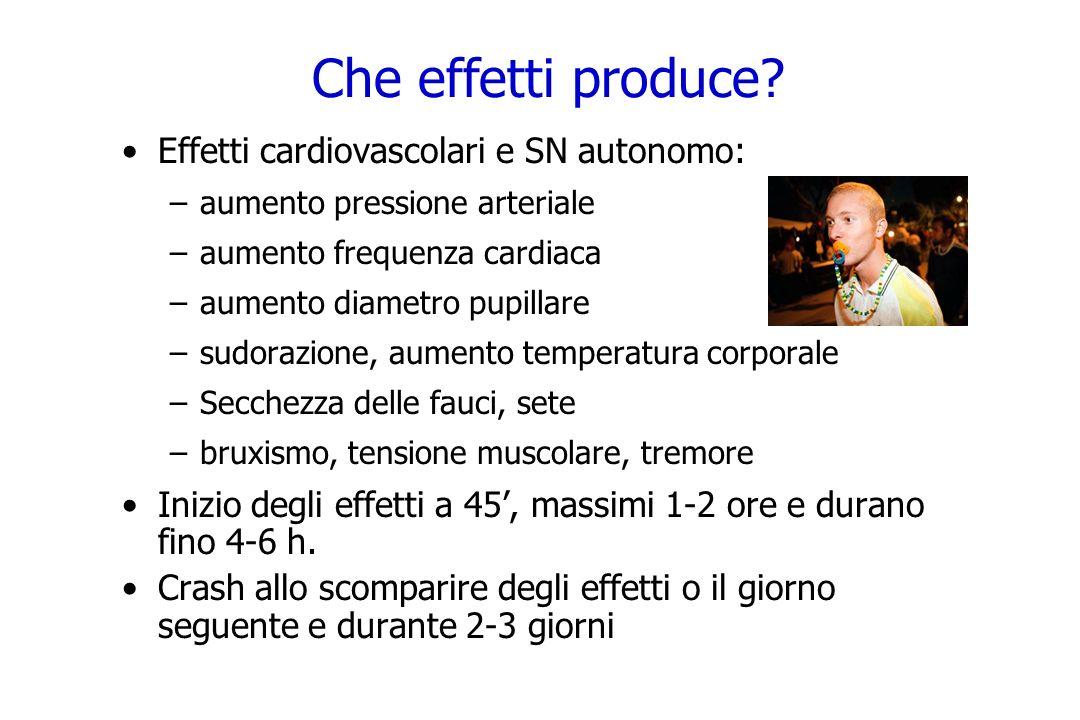 Che effetti produce Effetti cardiovascolari e SN autonomo: