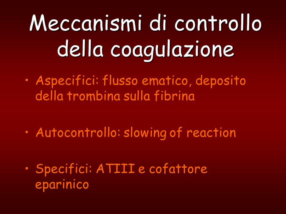 Meccanismi di controllo della coagulazione