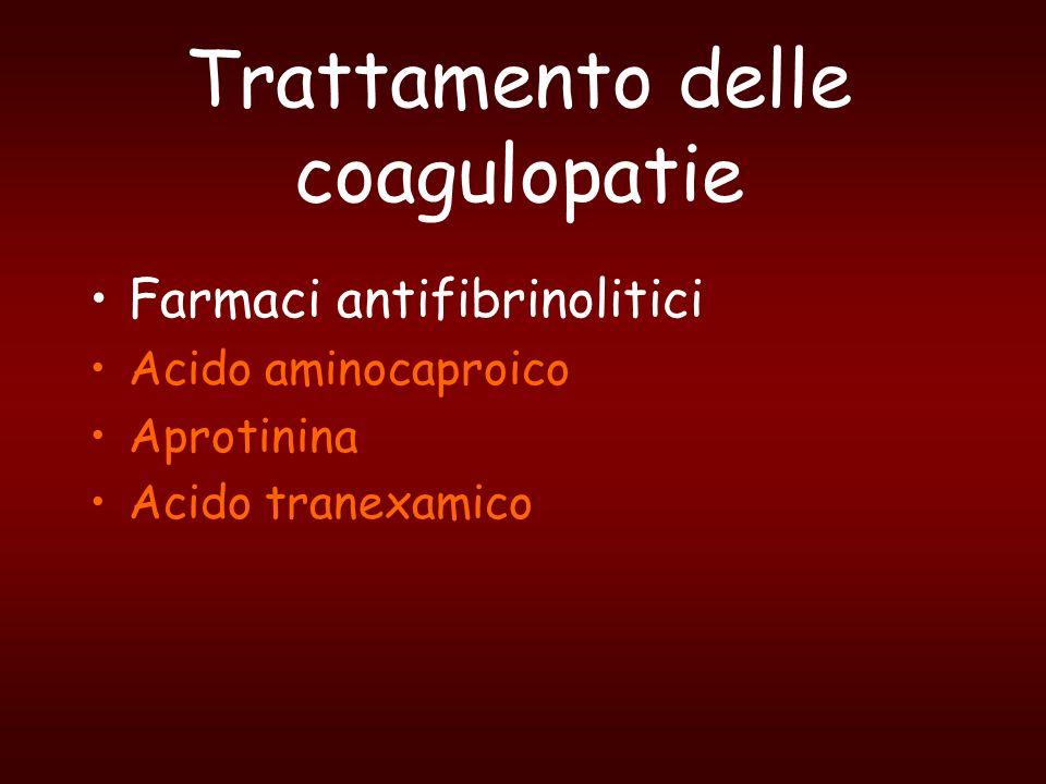 Trattamento delle coagulopatie