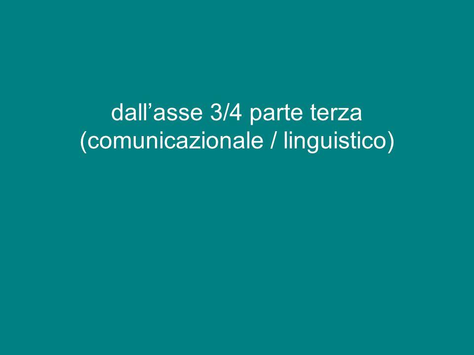 dall'asse 3/4 parte terza (comunicazionale / linguistico)