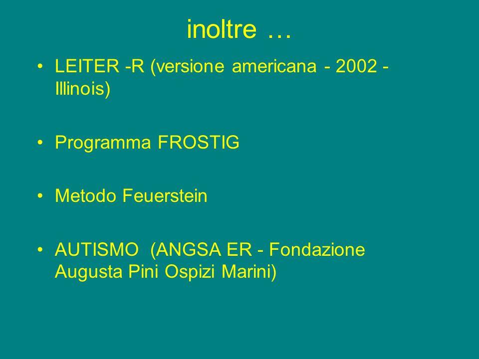 inoltre … LEITER -R (versione americana - 2002 - Illinois)