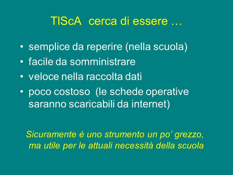 TIScA cerca di essere … semplice da reperire (nella scuola)