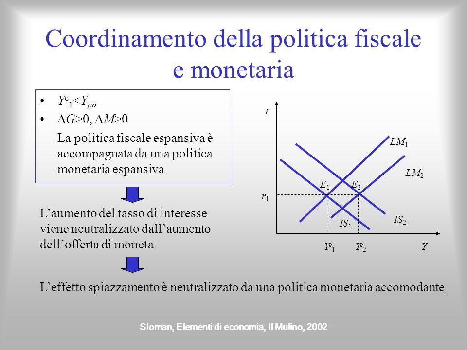 Coordinamento della politica fiscale e monetaria