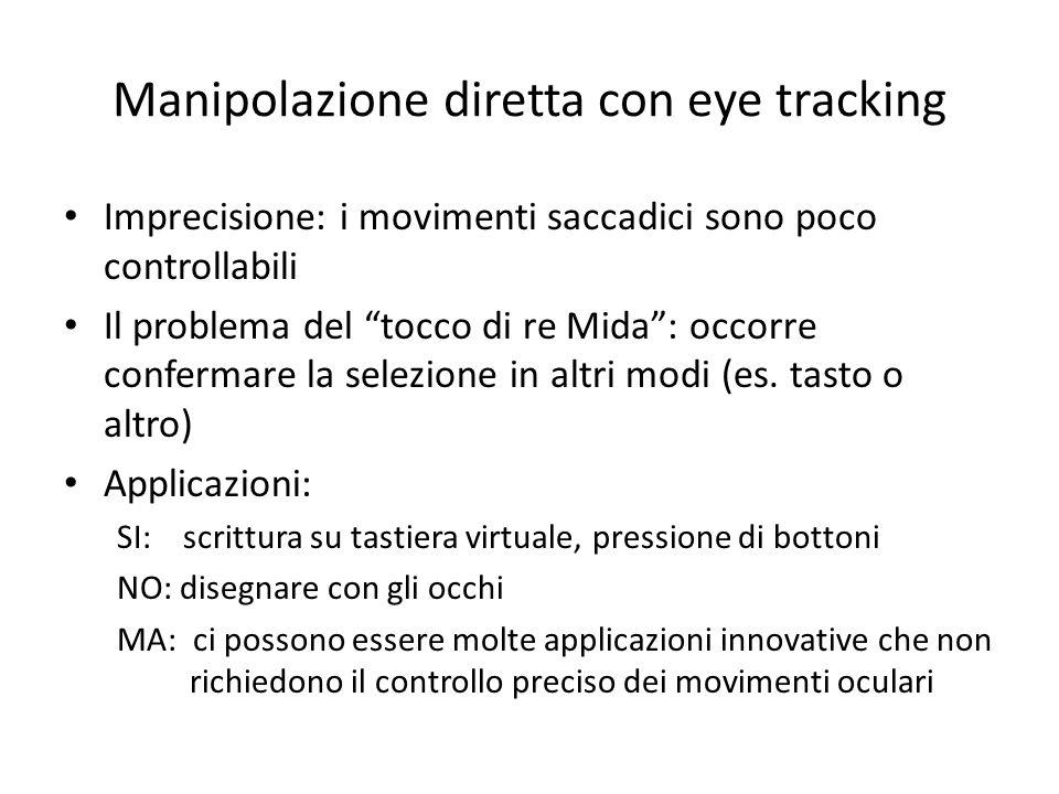Manipolazione diretta con eye tracking