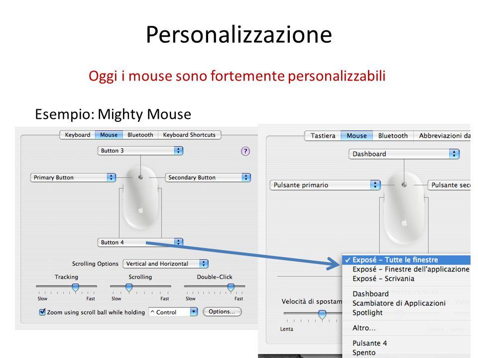 Oggi i mouse sono fortemente personalizzabili