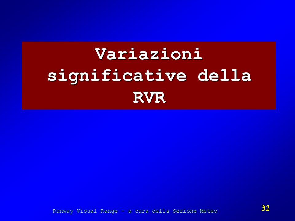 Variazioni significative della RVR