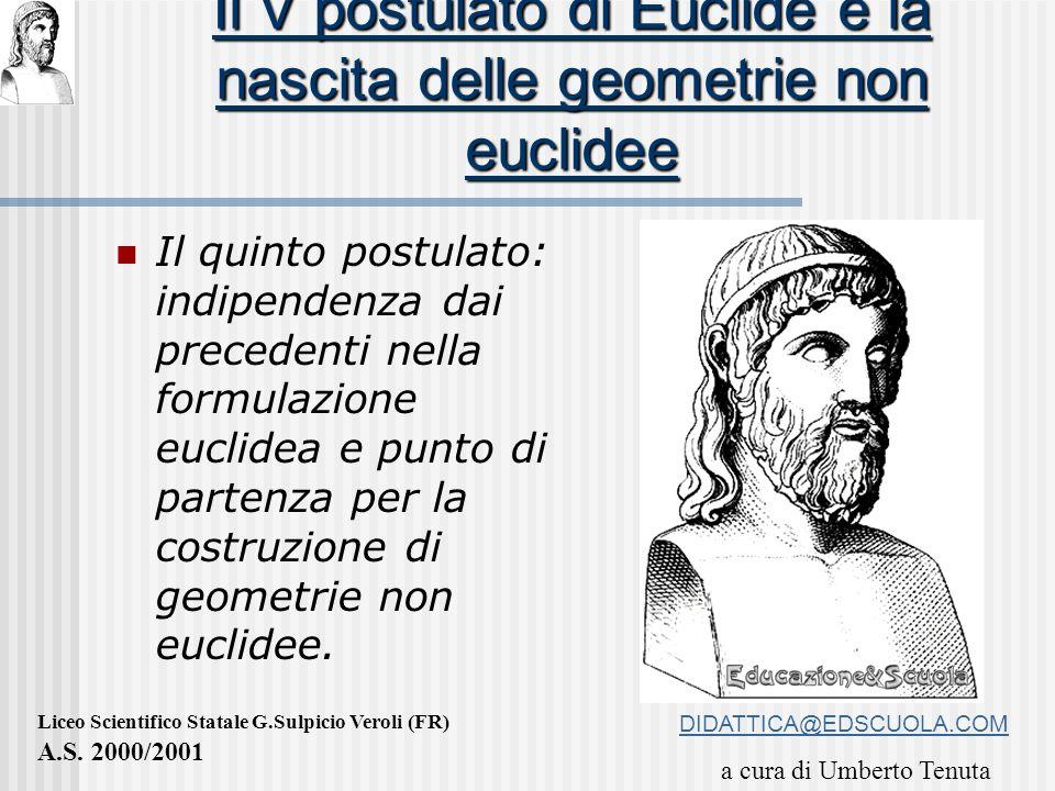 Il V postulato di Euclide e la nascita delle geometrie non euclidee