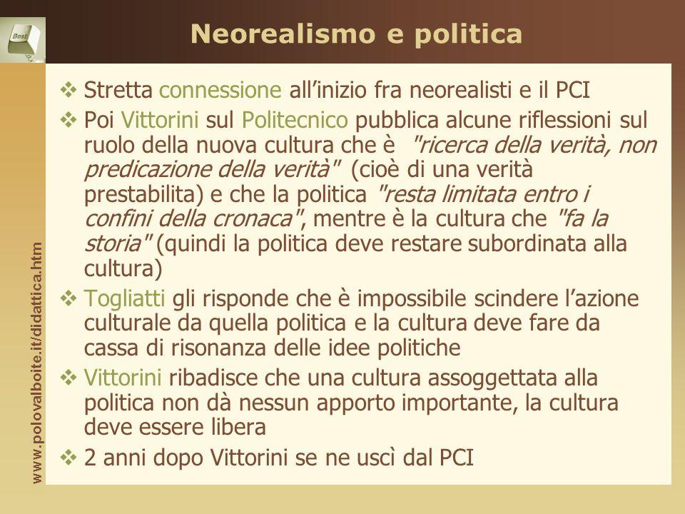 Neorealismo e politica