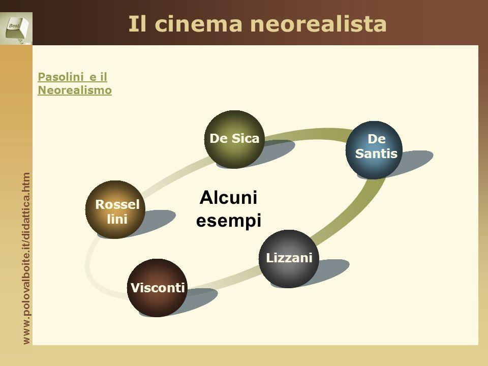 Il cinema neorealista Alcuni esempi De Sica De Santis Rossel lini